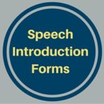 speech introduction form
