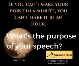speech purpose