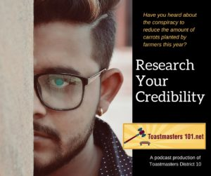 research your credibility